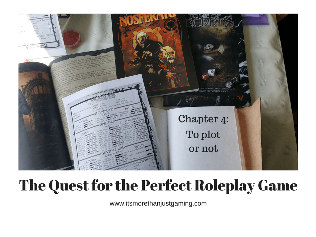 The Quest for the Perfect Game Chapter 4: To Plot or Not